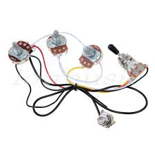 electric guitar wiring harness kit 3 way toggle switch 2 volume 1 electric guitar wiring harness kit 3 way toggle switch 2 volume 1 tone 500k