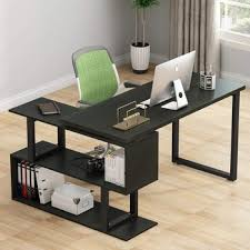 office working table. 2018 New Design L-Shape Computer Desk With Bookshelf PC Laptop Study Table  Home Office Office Working Table
