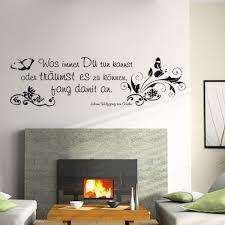 Wandtattoos Zitat Goethe Wandaufkleber Spruch Ranken Xxl Von