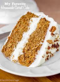 My Favorite Homemade Carrot Cake Sprinkle Some Sugar