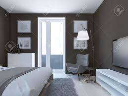 Cozy Braun Schlafzimmer Design Mit Weißen Und Grauen Möbeln Eingang