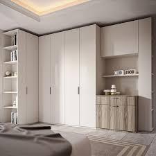 luxury bedroom wardrobe white color wardrobe closet with bed