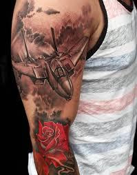 50 Tetování Letadel Pro Muže Letecké A Letecké Nápady