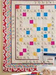 Scrabble Quilt... my mom is making one similar to this, but using ... & Patterns Adamdwight.com