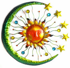 sun moon stars metal wall art