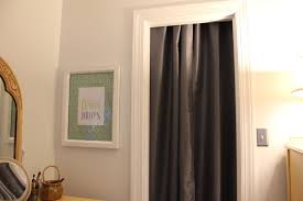 image of using curtains for closet doors