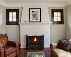 painted white brick fireplaceWhite Painted Brick Fireplace  Houzz