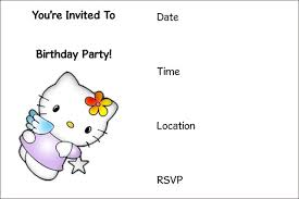 Fine Free Hello Kitty Party Invitations Concerning Luxurious