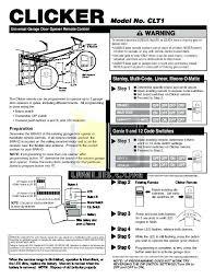reset craftsman garage door opener programming homelink