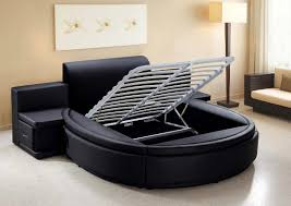 Bedroom Furniture Modern Aiden Black Round Bed