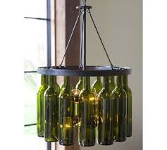as much as i like the idea of pottery barn recycling and making this great chandelier the tag is a bit steep making it a bit out of my range
