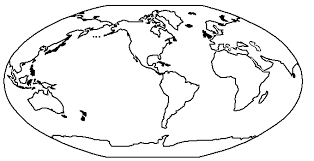 Globe Coloring Sheet Globe Coloring Pages Zigla Ideas