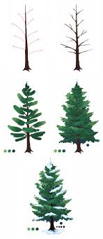 pine tree clipart painted 2