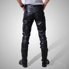 new arrival hot ing men s clothing leather pants tight leather pants male slim leather pants fashion men leather pants male