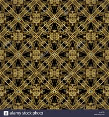 Digital Style Ornament Fancy Artwork In Golden Tones In Black