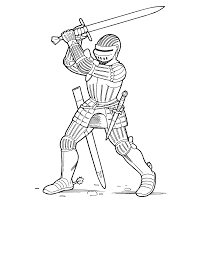 Knight Coloring Pages Coloring Home