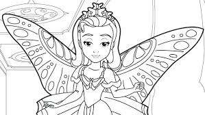 The First Coloring Pages Princess Amber In Sofia Page Free Mermaid