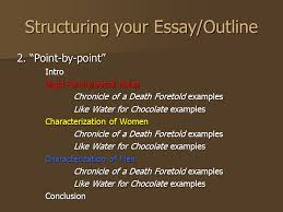 chronicle of a death foretold by gabriel garcia marquez today  structuring your essay outline 2