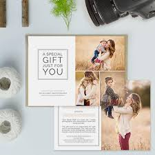 Photography Gift Certificate Template Photography Studio Gift Certificate Templates Gift Card Templates