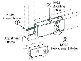 sliding door adjustment sliding door adjustment patio sliding door roller 1 1 2 wheel n a see