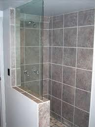 half wall shower enclosure extraordinary frameless glass build interior design 10