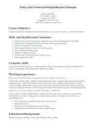 Data Analyst Resume Summary Enchanting Entry Level Financial Analyst Resume Summary Finance Samples Data