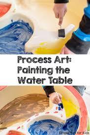 preschool art table. Painting The Water Table Preschool Art