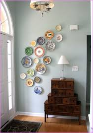 incredible inspiration hanging plates on wall best design interior decorative for entrancing 25 to decorate ideas walls with ribbon