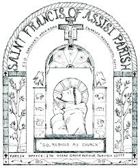 St Francis Coloring Page St Colouring Pages Saint Of Colouring Page