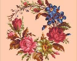 Bouquet with lilia cross stitch pattern Handbag antique   Etsy   Floral  cross stitch pattern, Floral cross stitch, Cross stitch patterns