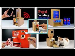 top 7 cardboard vending machine easy you can diy cardboard crafts compilation