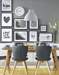 grey and white dining room. Simple White Grey Modern Dining Room With Wonderful Wall Decor Follow Adorable Home For  Daily Design Inspiration Throughout And White Dining Room I