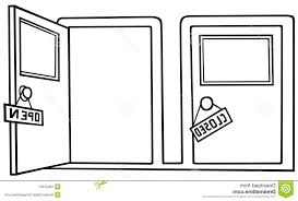 open front door clipart. door clipart black and white free download open front