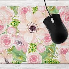pink office desk. Mousepad Pink Mouse Pad Office Desk Accessories For Women Flower Floral