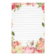 Paper With Flower Border Roses Border Lined Paper