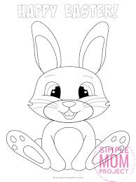 free printable easter bunny coloring