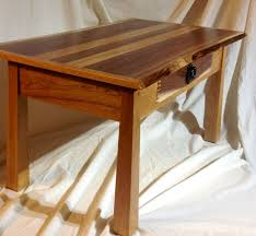 custom made unique live edge coffee table walnut cherry