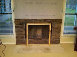 marvelous reface brick fireplace with stone contemporary