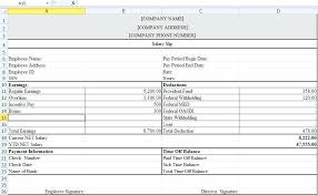 Payroll Register Template Excel System In Free Download