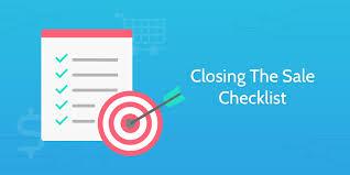 Closing The Sale Checklist Process Street