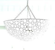 shell pendant light hanging fixture capiz chandelier