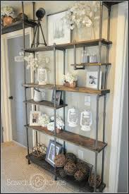 build a industrial style shelf by using pvc instead of metal get the