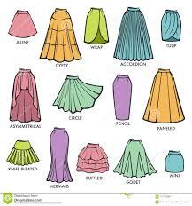 Fashion Design Skirt Woman Skirt Type Models Collection Vector Female Dress