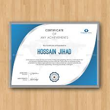 Certificate Template Photoshop 50 Diploma And Certificate Templates In Psd Word Vector Eps Formats