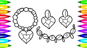 jewelry coloring pages for kids how to draw necklace earrings jewellery coloring book for kids