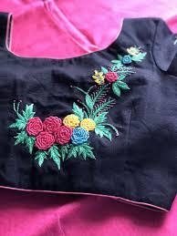 Job Description Embroidery Designer Floral Hand Embroidery Blouse Embroidery Neck Designs