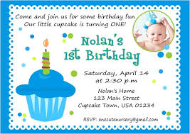 birthday card invitation design for boy 1st invites excellent baby first inside