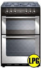New World Kitchen Appliances New World 55twlglpgsta New World Stainless Steel 55cm Twin Cavity