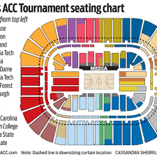 2018 Acc Tournament Seating Chart By School The Acc Tournament Remains A Tough Ticket College