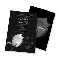 Black And White Invitation Paper Wedding Invitation Black And White Rose